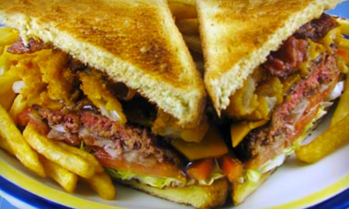 5 & Diner - Alafaya: Hamburger Meal with Appetizer and Soft Drinks for Two or Four or $7 for $15 Worth of Breakfast Fare at 5 & Diner