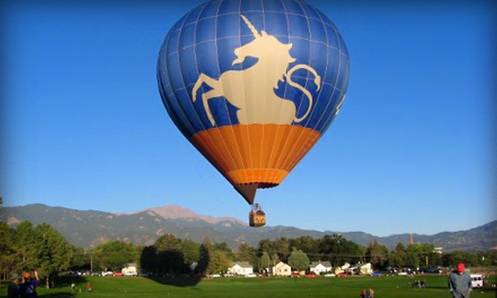 Unicorn Balloon Company - Tatum Ranch: Sunrise Hot Air Balloon Flight for One, Two, or Four from Adventures Out West in Cave Creek (Up to 49% Off)
