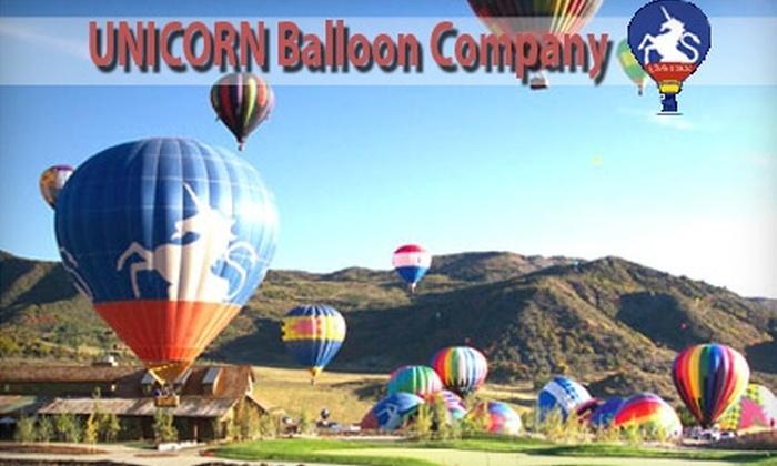 Unicorn Balloon Company - Tatum Ranch: $99 For a Sunrise Hot Air Balloon Flight from Unicorn Balloon Company in Scottsdale ($185 Value)