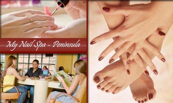 My Nail Spa Peninsula - Charlotte: $25 for a Deluxe Mani-Pedi at My Nail Spa–Peninsula in Cornelius ($58 Value)