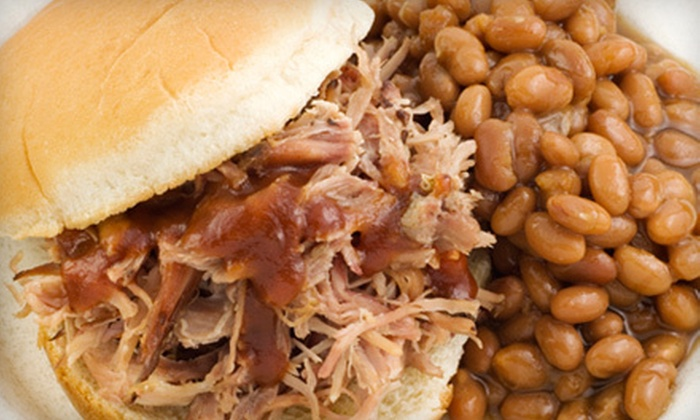 Double Trouble BBQ - Multiple Locations: Sandwiches and Barbecue Fare at Double Trouble BBQ (Half Off). Two Options Available.