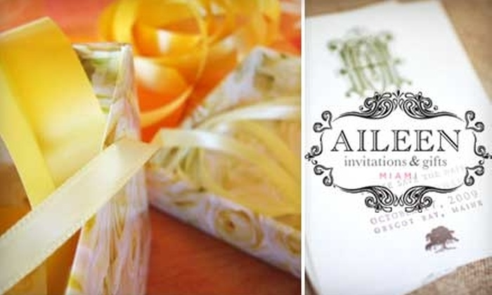 Aileen Invitations & Gifts - Ojus: $20 for $40 Worth of Stationery and Gifts from Aileen Invitations