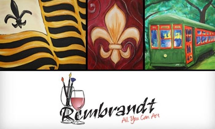 Rembrandt All You Can Art - 4: $39 for Two Painting Parties or a One-Month Paint-Lab Membership at Rembrandt All You Can Art in Metairie (Up to $105 Value)