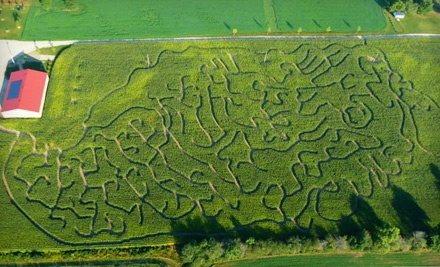 Corn-Maze Admission for 2 People (up to $20 value) - Waterloo County Corn Maze in Crosshill