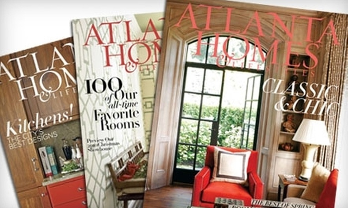 """Atlanta Homes & Lifestyles"" Magazine: $13 for a One-Year Subscription to ""Atlanta Homes & Lifestyles"" Magazine ($27 Value)"