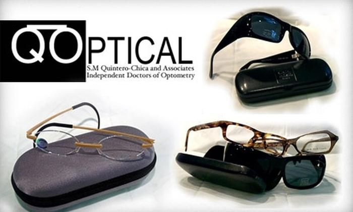 Q Optical - Back Bay: $50 for $125 Worth of Designer Frames and Glasses Lenses at Q Optical