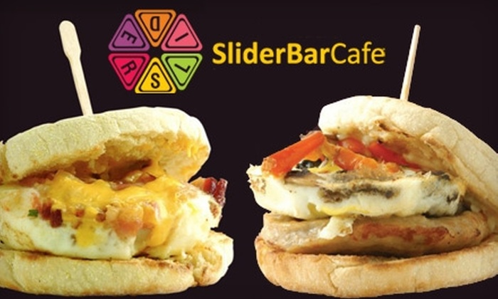 Slider Bar Café - Downtown North: $5 for Two Breakfast Sliders, Juice, and Choice of Coffee or Espresso Drink at Slider Bar Café in Palo Alto (Up to $11.76 Value)