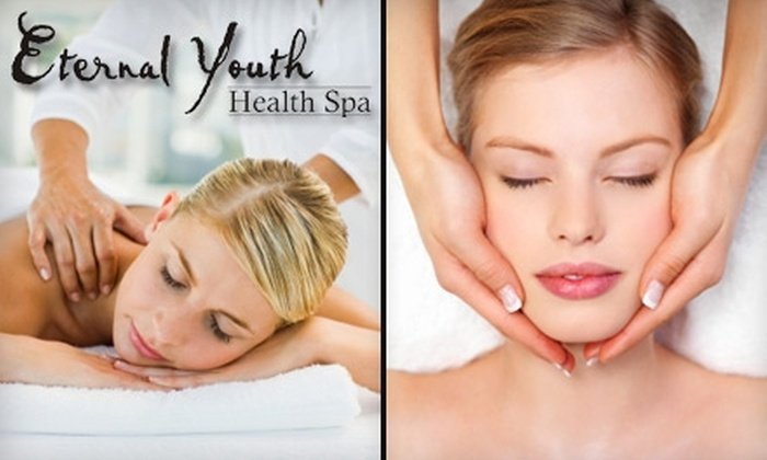 Eternal Youth Health Spa - Multiple Locations: $35 for a Massage or Customized Facial at Eternal Youth Health Spa ($75 Value)