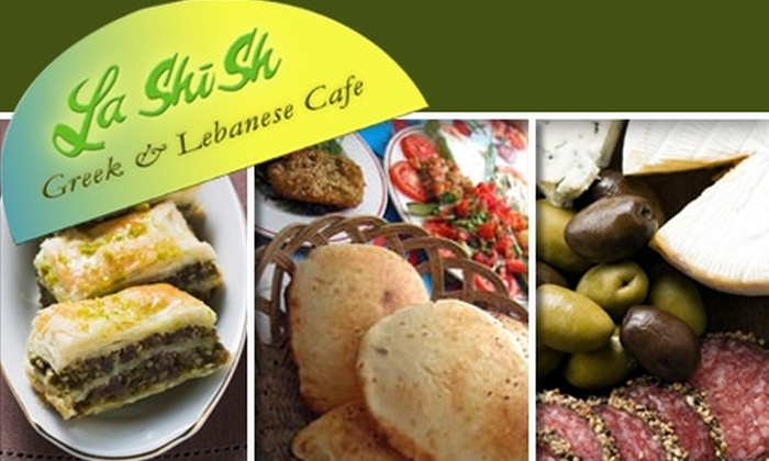 La Shish Greek & Lebanese Cafe - Cary: $15 for $30 Worth of Mediterranean Fare and Drinks at La Shish Greek and Lebanese Cafe