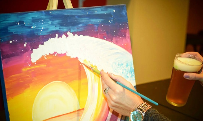 Paint & Pints - Downtown: Two-Hour Paint and Sip Class for One or Two at Paint & Pints (Up to 43% Off)