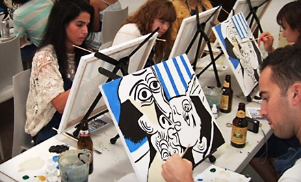 2-Hour BYOB Painting Workshop for 1 (a $50 value) - Painting Lounge in Brooklyn