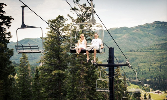 Solitude Mountain Resort - Cottonwood: Scenic Summer Chairlift Ride for Two or Four at Solitude Mountain Resort (Half Off)