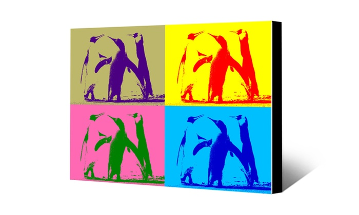 """Canvas Champ: 8""""x8"""", 16""""x20"""", or 20""""x30"""" Warhol-Style Canvas Print from CanvasChamp (Up to 88% Off)"""