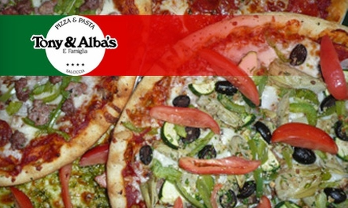 Tony & Alba's Pizza and Pasta - Winchester: $10 for $20 Worth of Pizza and Italian Eats at Tony & Alba's Pizza and Pasta