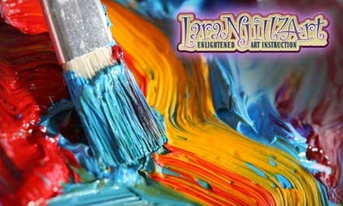LaraNJillzArt - Kenilworth: $15 for One Two-Hour Adult Beginner Art Workshop at LaraNJillzArt