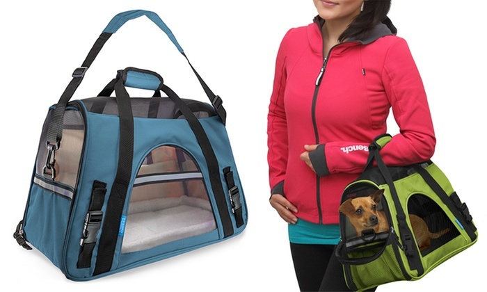 b6cbd1595ff3 Soft-Sided Airline Approved Travel Pet Carrier | Groupon