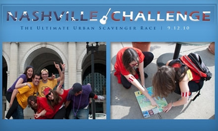 Nashville Challenge - Downtown Nashville: $25 to Participate in the Nashville Challenge: The Ultimate Urban Scavenger Race on September 12