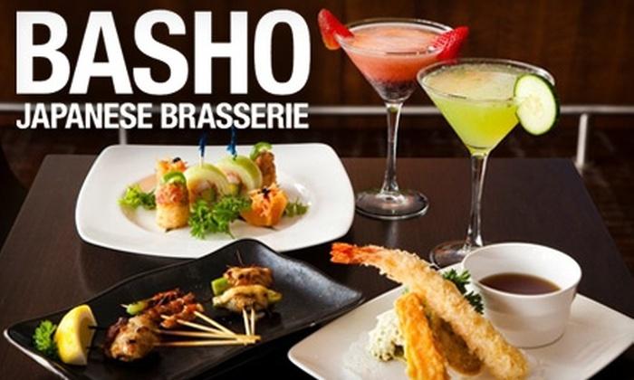 Basho Japanese Brasserie - Fenway/Kenmore: $15 for $30 Worth of Japanese Cuisine at Basho Japanese Brasserie