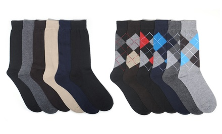 6-Pack of Men's Focus Dress Socks
