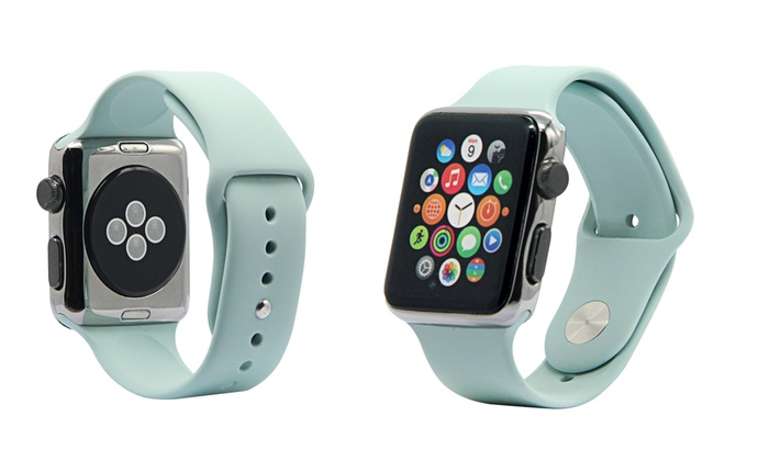 Silicone Sport Replacement Band for Apple Watch Series 1  2  Groupon