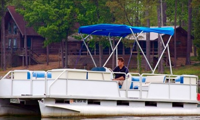 Scottsboro Boat Rental - Huntsville: Pontoon Rental from Scottsboro Boat Rental. Two Options Available.
