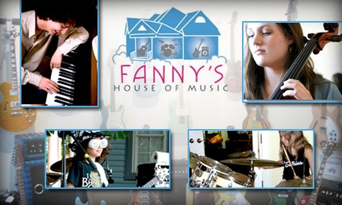 Fanny's House of Music - East End: $50 for Four Lessons of Your Choice at Fanny's House of Music