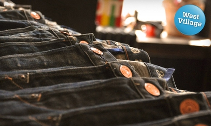 Earnest Sewn - Multiple Locations: $40 for $80 Worth of Denim Apparel and Accessories at Earnest Sewn