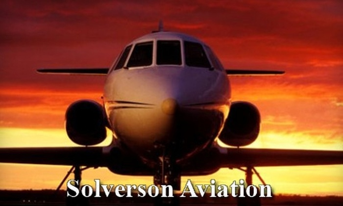 Solverson Aviation - Reedsburg: $100 for a One-Hour Scenic Flight ($200 Value) or a One-Hour Intro Flight Instruction ($150 Value) from Solverson Aviation in Reedsburg