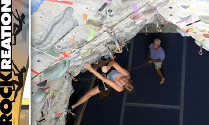 Rockreation Sport Climbing Center - Holladay: $20 for a One-Month Membership and One Fight Gravity Class at Rockreation Sport Climbing Center ($97 Value)