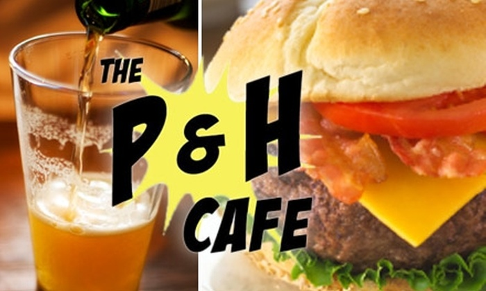 The P & H Cafe - Midtown: $10 for $20 Worth of Classic American Fare and Drinks at The P & H Cafe