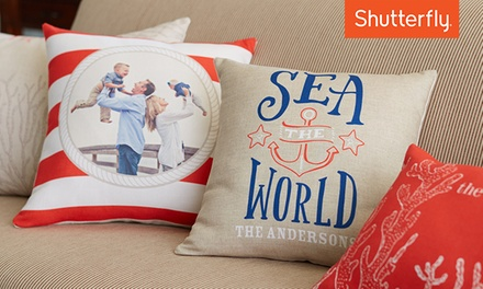 Custom 16x16 Indoor Pillow or 20x20 Outdoor Pillow from Shutterfly (Up to 56% Off)