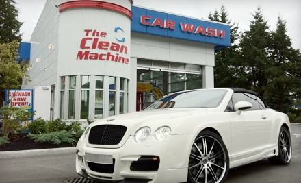 3 Bronze-Package Car Washes (a $35.68 value) - The Clean Machine in Coquitlam