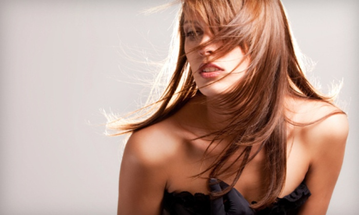 Salon Mirage - Citrus Park Community: Haircut, Shampoo, Style, and Conditioning or Haircut and Color or Partial Highlights at Salon Mirage (Up to 79% Off)