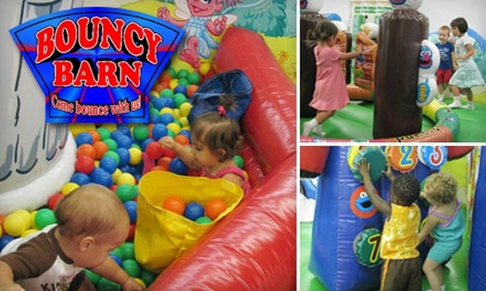BouncyBarn - Broken Arrow: One-Day Children's Ticket or One-Month Children's Bounce Pass at BouncyBarn. Choose Between Two Options.