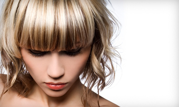 Scissors Rox Paper - Paradise Valley: Haircut and Partial Highlights, Haircut and Full Highlights, or Haircut at Scissors Rox Paper (Up to 58% Off)