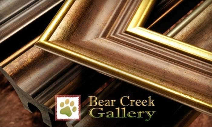 Bear Creek Gallery - Mcmillan: $35 for $75 Worth of Custom Framing at Bear Creek Gallery