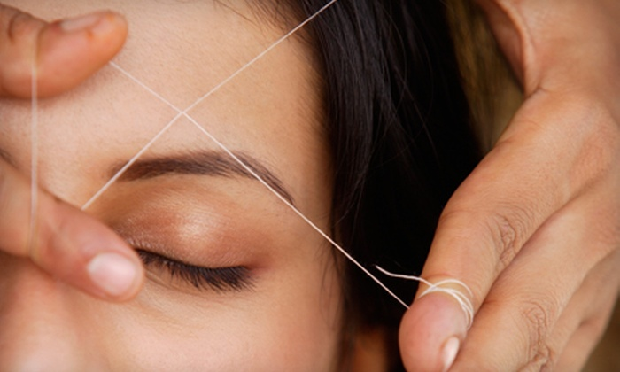 Aryana Salon - Courtland: Eyebrow Threading or Full-Face Threading with Facial Treatment at Aryana Salon (Up to 57% Off)