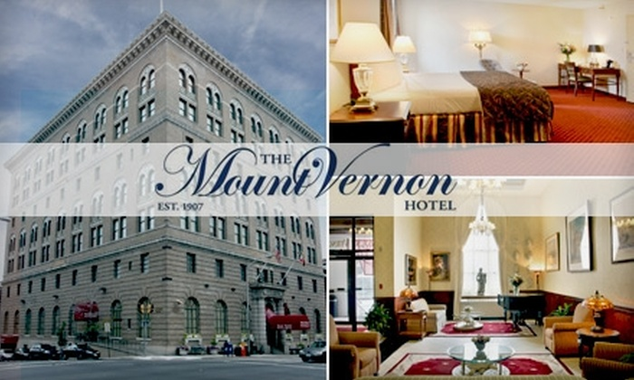 The Mount Vernon Hotel - Downtown: $74 for One Night in a Deluxe Room and Hot Breakfast at The Mount Vernon Hotel