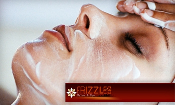 Frizzles Salon & Spa - Eisenhower East - Carlyle District: $60 for One-Hour Deep-Tissue Massage, Foot Reflexology, and Scrub at Frizzles Salon & Spa in Alexandria ($120 Value)