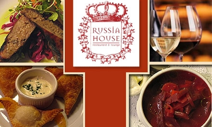 Russia House Restaurant and Lounge - Kalorama: $20 for $40 Worth of Authentic Fare and Drinks at Russia House Restaurant and Lounge