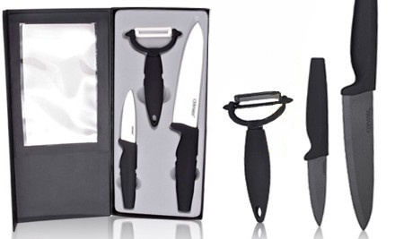 Ceramix Knife Gift Set in White (a $40 value) - XL100store.ca in