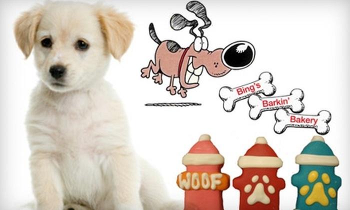 Bing's Barkin' Bakery: $7 for $15 Worth of Dog Treats and More at Bing's Barkin' Bakery