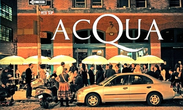Acqua at Peck Slip - Financial District: $20 for $40 Worth of Italian Cuisine and Drinks at Acqua at Peck Slip