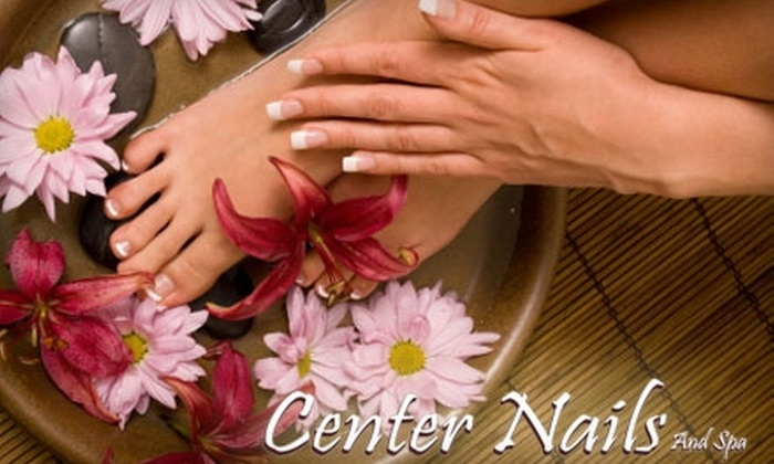 Center Nails And Spa - Chicago: $31 for a Deluxe Pedicure and Center Manicure at Center Nails And Spa