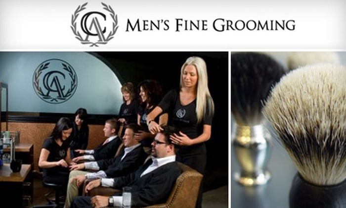 CA Men's Fine Grooming - Wichita: $30 for an Expert Haircut, Hot-Towel Treatment, Hand Detail, Shoeshine, and More at CA Men's Fine Grooming ($60 Value)