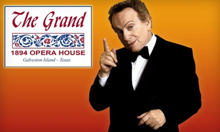The Grand 1894 Opera House - Downtown Galveston: $15 for One Ticket to the Jackie Mason Performance at The Grand 1894 Opera House in Galveston ($35 Value)