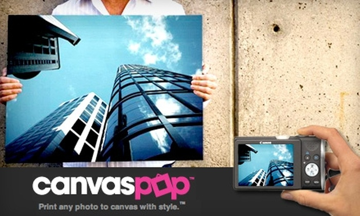 CanvasPop - Toronto (GTA): $40 for $80 Worth of Custom Photo Canvas Printing from CanvasPop