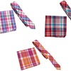 Skinny Tie and Matching Pocket Square Bundle