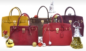 Croco Padlock Handbag