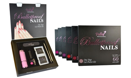 One £9.98, Two £18.98 or Three £27.98 Pretty Professional Bulletproof Nails Gel Polish Kits